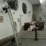 Fotos via celular do momento da instalação difusores AL 3.5