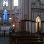 Vista interna de Basílica, com difusores AL 3.5 1600 em seu interior. (foto via celular)
